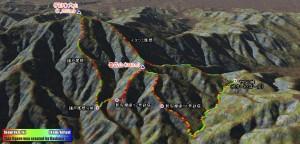 大山から新多摩線12号鉄塔、11号鉄塔を周回してヤビツ峠へ