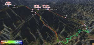 加入道山から大室山まで霧氷の尾根を歩く