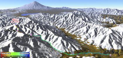 雪の菰釣山