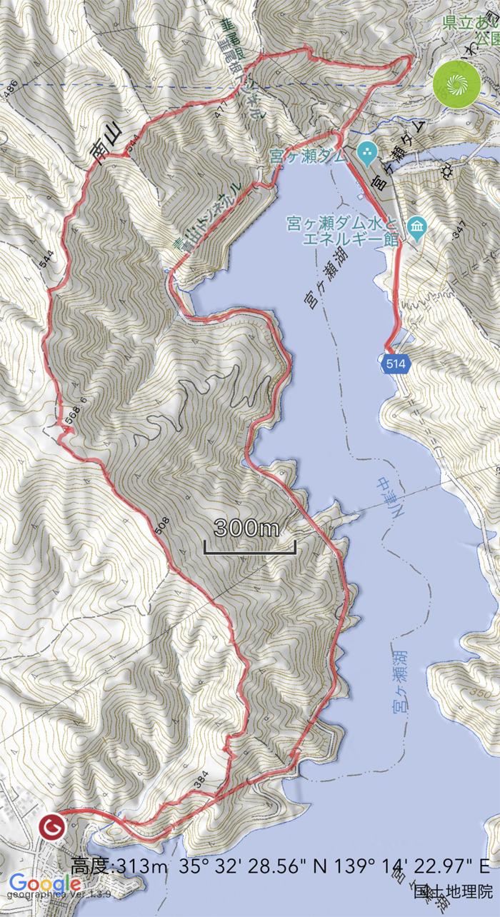 南山トレッキングログ