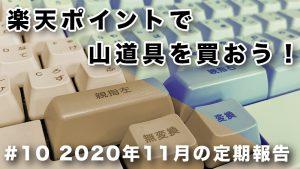 【企画】楽天ポイントの2020年11月、定期報告 #10